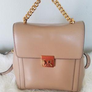 Michael Kors Tan Leather Medium Backpack